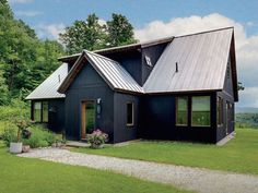 Get bored with your home exterior? We know already that Scandinavian design is becoming a trend now. Here are some design to make your house exterior more fantastic. Spa Exterior, House Paint Exterior, Black Exterior, Exterior Design, Interior And Exterior, Exterior Colors, Exterior Remodel, Exterior Windows, Modern Farmhouse Exterior