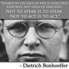 Dietrich Bonhoeffer - Lutheran Pastor, theologian, anti-Nazi dissident, and founding member of the Confessing Church. A man who died for his faith! Dietrich Bonhoeffer, 5 Solas, Blessed, Hard Truth, Lutheran, Persecution, The Victim, Quotable Quotes, Picture Quotes
