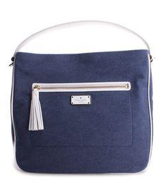 $219.99 marked down from $329! Kate Spade Denim Blue Michaela Crossbody Bag #zulily #zulilyfinds