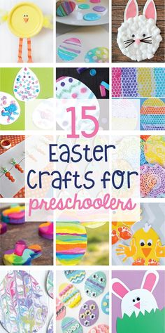 15 Easter Crafts for Preschoolers by Lindi Haws of is part of Easter crafts For Preschoolers - A collection of the web's best Easter Crafts for Preschoolers including paper plate chicks and bunnies, DIY Easter egg crayons, sun catchers & marbled eggs Easter Arts And Crafts, Easter Activities For Kids, Easter Projects, Bunny Crafts, Spring Crafts, Holiday Crafts, Easter Ideas, Easter Crafts For Preschoolers, Easter Recipes
