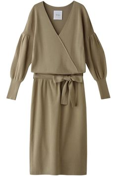 カシュクールニットワンピース ザ ヴァージニア/The Virgnia Fashion Forever, Knit Shirt, Japan Fashion, Comfortable Fashion, Minimalist Fashion, Knit Dress, Lounge Wear, Casual Dresses, Vestidos