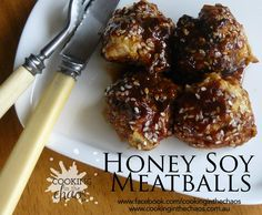 Recipe Honey Soy Meatballs by Cooking in the Chaos - Recipe of category Main dishes - meat