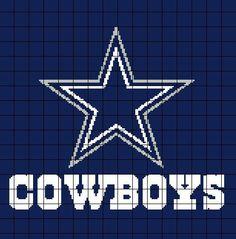 Dallas Cowboys Crochet Graph / Chart