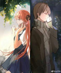 okikagu gintama Anime Cupples, Anime Couples Manga, Kawaii Anime, Cute Anime Coupes, Wie Zeichnet Man Manga, Gintama, Romantic Manga, Okikagu, Anime Love Couple