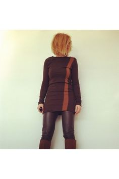 bronze jersey brown upper palatinate rocks shirt - burnt orange hm boots