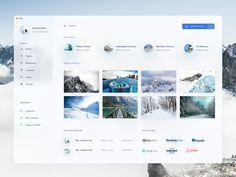 Travel App by Shekh Al Raihan ✪ on Dribbble Web Dashboard, Ui Web, Dashboard Design, App Ui Design, Interface Design, Student Dashboard, Design Web, User Interface, Graphic Design