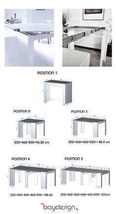 Manque d'espace? Besoin d'une table polyvalente pour recevoir plusieurs convives? Procurez vous la table console extensible EXTENZI pour seulement 299$ taxes incluses! - BAYDESIGN