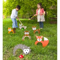 Woodland Croquet Great for family game night and outdoor parties, kids and adults love to play this sweet twist on the backyard classic. family games with kids Holiday Gift Guide, Holiday Gifts, Holiday Ideas, Christmas Holiday, Christmas Stuff, Christmas Crafts, Family Holiday, Winter Holiday, Christmas Decorations