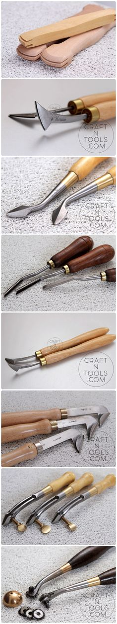 Leather working tools. Leather edging and marking tools #craftntools #leather_tools #leather_working #vergez_blanchard
