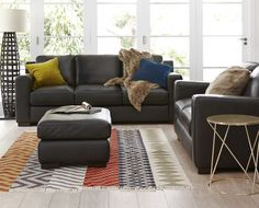 Brown Couch Decorating Ideas | Freedom New-York-Sofa-Range | Decor | Pinterest | Freedom, Leather ...