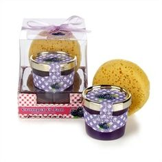 Crumpet and Jam Body Wash Set by mad. $11.86. Tub of shower gel measures approx 7 cm x 7 cm x 7 cm. Sponge measures approx 9.5 cm in diameter x 2.8 cm. Includes a crumpet shaped sponge and a pot of blackberry fragranced body wash. Comes beautifully packaged. A fabulously fruity and fun bath-time treat!. If you love crumpets and jam then this delicious bath and body gift set is for you! This super fun set is perfect as it has taken that classic afternoon treat and tr...