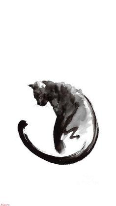 Cat Art Wallpaper IPhone my edition A.Aisuru
