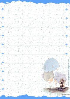 Papéis de Carta e Envelopes - Papel de Carta e Envelope - Papel de Carta e Envelope para imprimir: Preciosos Momentos - Precious Moments