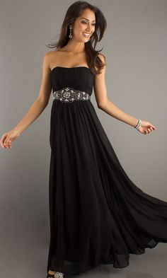Strapless Floor Length Dress DQ-8073i