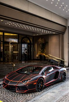 Lamborghini Aventador #Black&Red