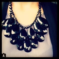 Drop necklace by Angelina heart Made .. Like us on Facebook and follow @angelina pilarski on instagram