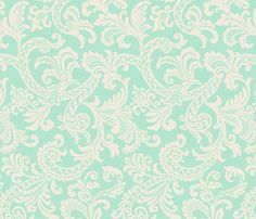Paisley Scroll fabric by littlerhodydesign on Spoonflower - custom fabric