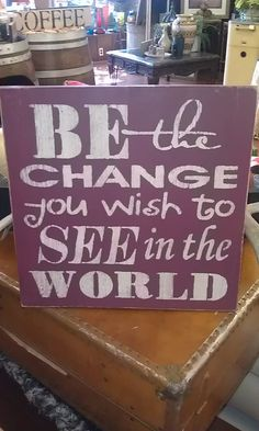LARGE CHANGE Wood Sign by CupbearerDecor on Etsy, $29.00