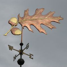 The customer who first ordered thisRed Oak Leaf Weathervane wanted to make a statement that complimented his home environment. This vane wasto be mounted on the center top cupola of a long and large single story barnlocatedin Connecticuton asitegraced with many native red oaks. Because the barn was quite large and the visual background wooded, …