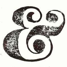 Is it just me, or is this ampersand gorgeous? The curves and the finish are just right.