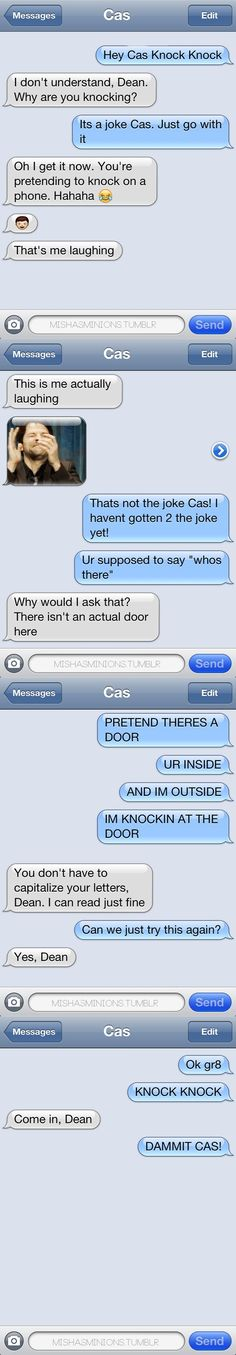 Texts Between Castiel and Dean