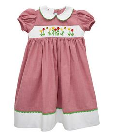 Another great find on #zulily! Red Tulips Smocked Dress - Infant, Toddler & Girls by Vive La Fête #zulilyfinds