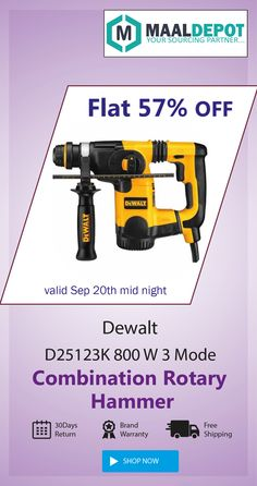Dewalt Reversible Rotary Drill-can adapt to the most hostile working conditions. Shop at http://bit.ly/2d9XcMX for affordable prices. To place orders,call or whatsapp to 9019156789