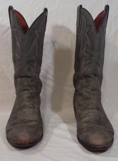 El Dorado Men's Cowboy Boots Size 9 1/2 EE Gray Color Exotic Leather Made in USA #ElDorado