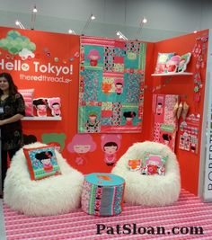 Hello Tokyo fabric   from the red thread