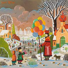 Biographie du peintre Alain THOMAS Alain Thomas, Children Books, Naive Art, Paradis, Children's Book Illustration, Folk Art, Artsy, Inspirational, Colorful
