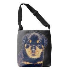 #Rottweiler Puppy- Customizable Crossbody Bag - #rottweiler #puppy #rottweilers #dog #dogs #pet #pets #cute