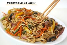 Vegetable Lo Mein. Easy and versatile - swap in whatever veggies you love!