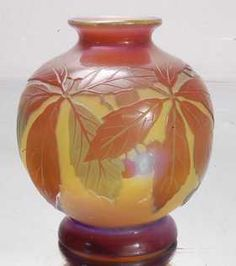 1: Emile Galle´ Cameo French Art Glass Vase