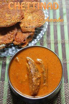 Chettinad Masala Kuzhambu Recipe - Yummy Tummy Easy Veg Recipes, Vegetarian Recipes, Cooking Recipes, Indian Foods, Indian Food Recipes, Ethnic Recipes, Rasam Recipe, Complete Recipe, Curries