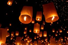 Fire in the Sky: Loy Krathong Begins and Lanterns Fly in Mae Jo, Thailand | NIKDAUM.COM