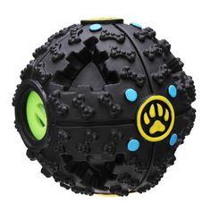 Fantastic Black Bone Pattern Pet Dog Feeding Ball Sound Toy
