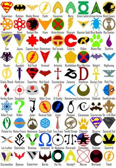 DC Comics Symbols by Natan-Ferri on DeviantArtYou can find Dc universe and more on our website.DC Comics Symbols by Natan-Ferri on DeviantArt Cyborg Dc Comics, Marvel Dc Comics, Mera Dc Comics, Dc Comics Art, Marvel Vs, Spiderman Marvel, Dc Comics Heroes, Anime Comics, Superman Comic