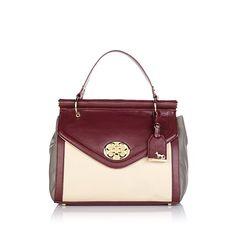 Emma Fox Leather Flap Bag with Dowel