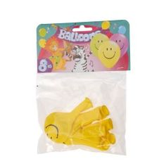 Ballonnen Lach Geel, 8st.