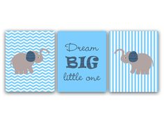 Baby Boys Nursery Wall Art - Dream Big Little One
