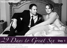 Act of Marriage - 29 Days to Great Sex Day 1. It's a tasteful month-long set of challenges to do to help your marriage become more intimate and fun!