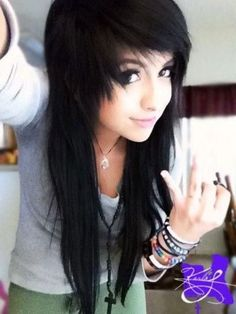 Albums Of Emo Girl Hair Style Photos Explore Thousands Of . Hair Cutting Style how to cut hair emo girl style Style Emo, Style Hair, Girl Style, Scene Style, Pretty Hairstyles, Girl Hairstyles, Scene Hairstyles, Wedding Hairstyles, Updo Hairstyle