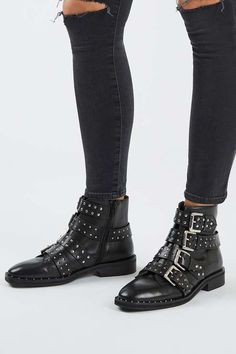 AMY Studded Ankle Boots - Topshop