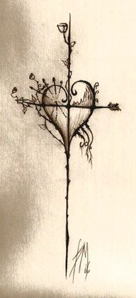 "This would be pretty in color too, but it's great the way it is. If I were to get one, this is what I'd get. ""cross tattoo"""