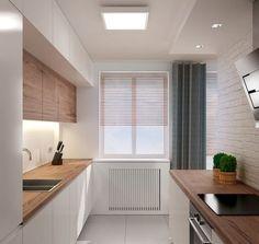 Scandinavian Dining Room Design: Ideas & Inspiration - Di Home Design Kitchen Dinning, Kitchen Decor, Narrow Kitchen, Kitchen Colors, Kitchen Ideas, Dining Room, Casa Hipster, Green Kitchen Cabinets, Kitchen Soffit