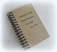 Spiral notebook with Harry Potter's quote Blank pages by CraftRu, $4.00
