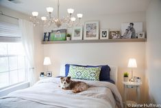 I love the shelf over the bed. I'm thinking I might finally know what to do in our guest room....