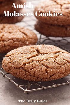 Amish Molasses Cookies - thebellyrules