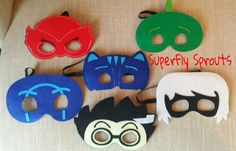 This listing is for the set of 6 superhero masks! Or pick any mixture!  Masks…
