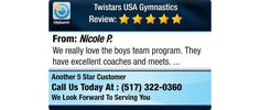 We really love the boys team program. They have excellent coaches and meets.